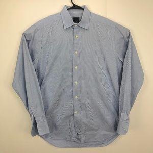 David Donahue Reg Fit Shirt Blue Gray 16.5 - 36/37